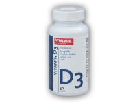 Vitaland Vitamin D3 30 kapslí