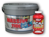 Massive 1100 W.Gains 7264g + BCAA 300 tablet