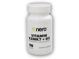 Vitamin K2MK7+D3 90 kapslí