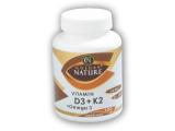 Vitamin D3 + K2 + Omega 3 100 kapslí