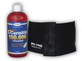 L-Carnitin 150000+Chrom.1l + Zeštíhlovací pás