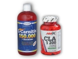 L-Carnitin 150000+Chrom.1l+CLA Green Tea 120c