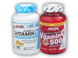 Vitamin D3 4000IU 90tob + Vitamin c 500
