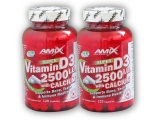 2x Super Vitamin D3 2500I.U.+ Calcium 120cps