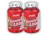 2x Vitamin C 1000mg + Rose Hips 100 cps