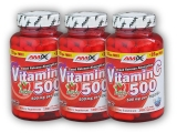 3x Vitamin C 500mg + Rose Hips 125 kaps