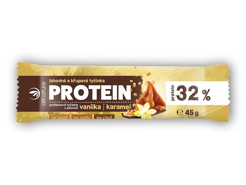 Allnature Proteinová křupavá tyčinka 32% 45g-vanila-karamel