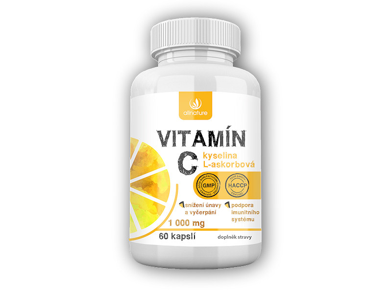 Allnature Vitamin C 1000mg 60 kapslí