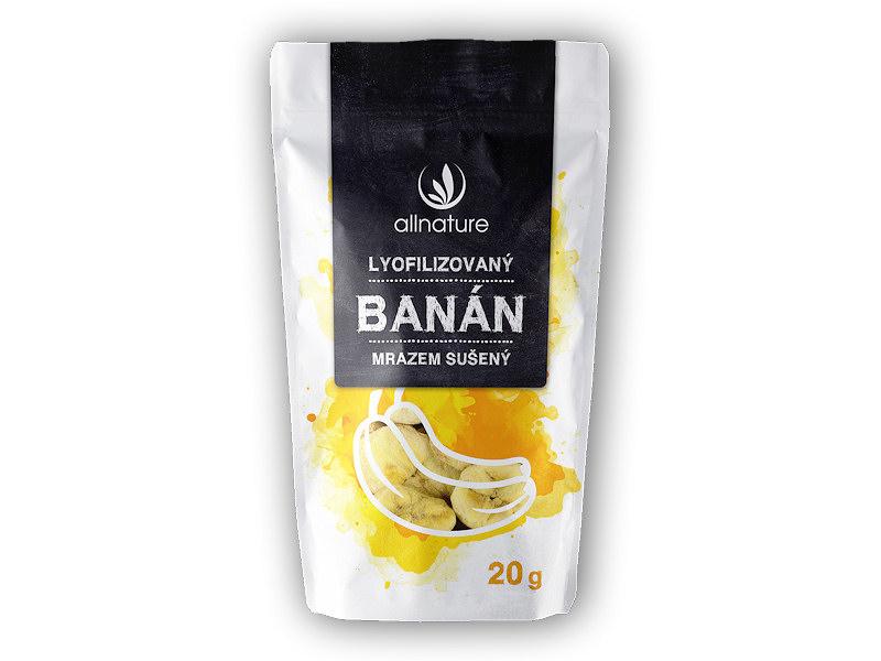Allnature Banán sušený mrazem plátky 20g