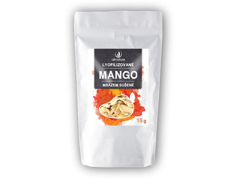 Allnature Mango sušené mrazem plátky 15g